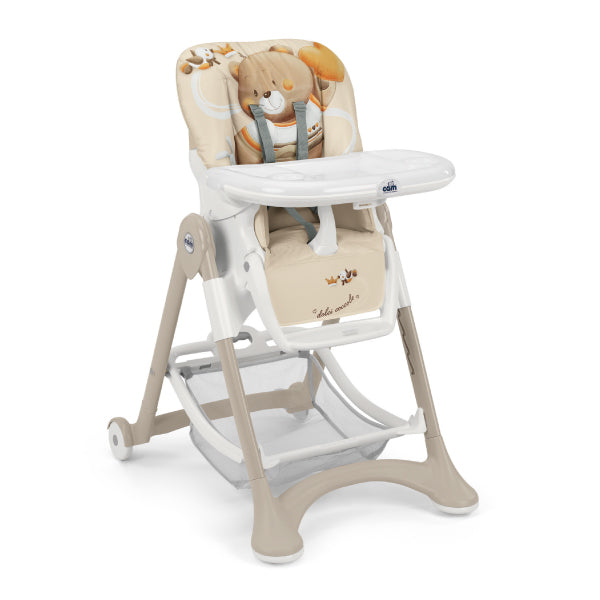 CAM Campione High Chair - Beige/Bear