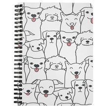 Load image into Gallery viewer, Doggie Friends Spiral Notebook