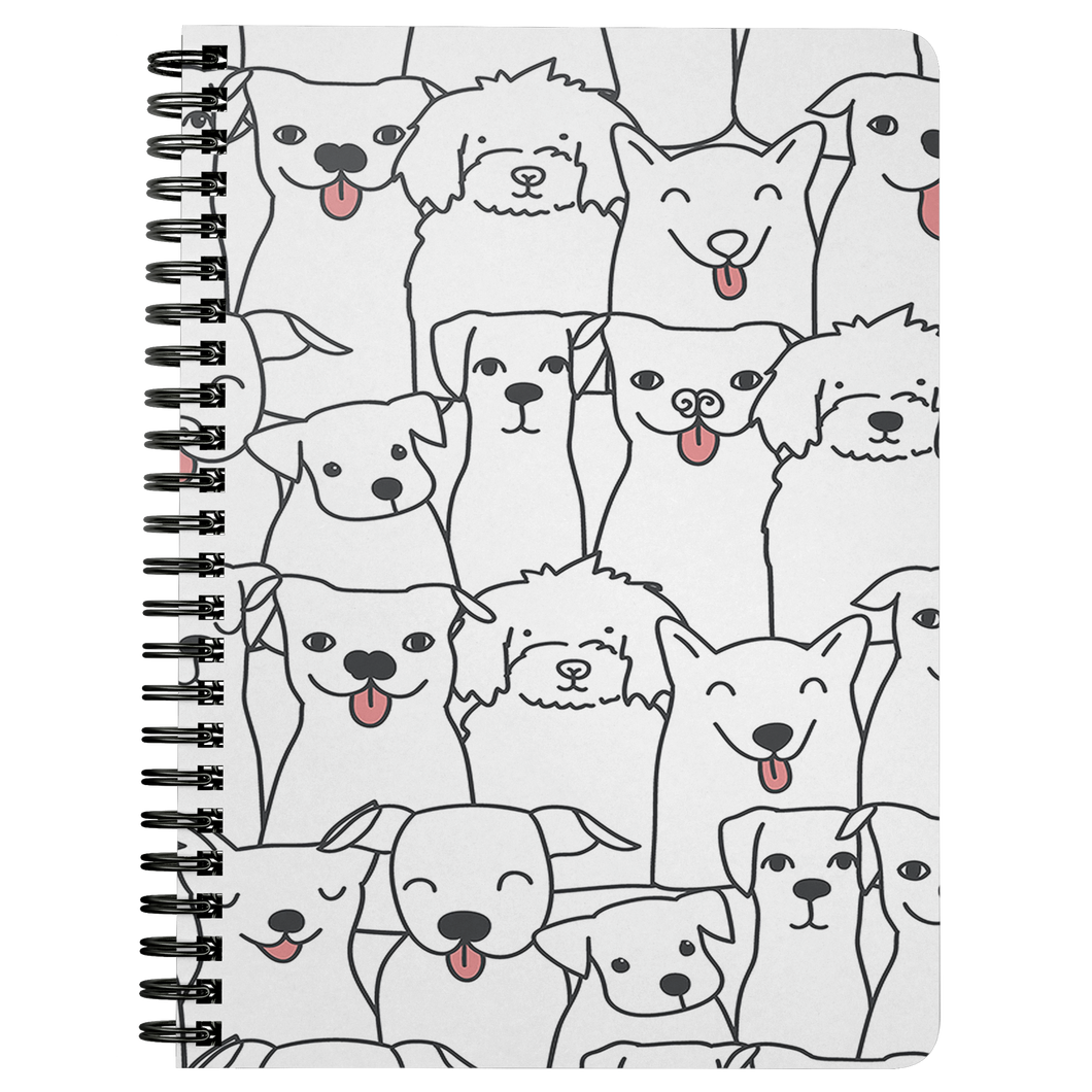 Doggie Friends Spiral Notebook