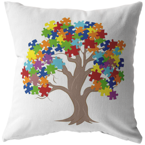 Autism Tree Pillow