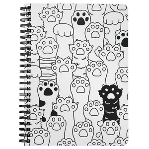 Kitty Paws Spiral Notebook