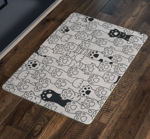 Kitty Paws Welcome Mat