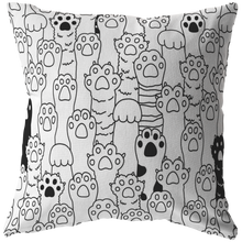 Load image into Gallery viewer, Kitty Paws Pillow