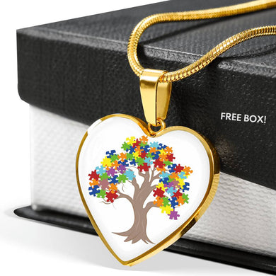 Autism Tree Heart Pendant