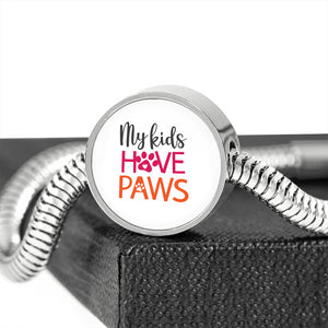 My Kids Have Paws Elegant Bracelet with Charm or Charm Only
