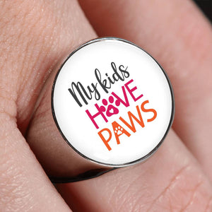 My Kids Have Paws Signet Ring