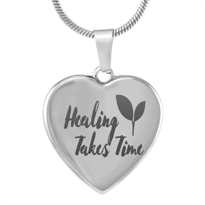 Exclusive Healing Takes Time Heart Pendant