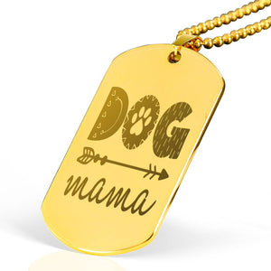Exclusive Gold Mama Gold Plated Dog Tag