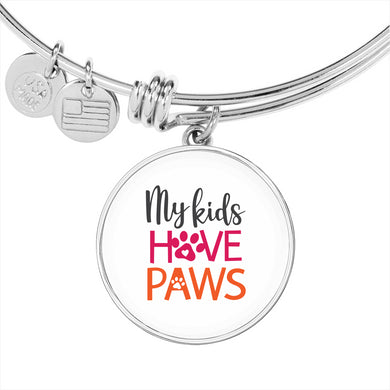 My Kids Have Paws Circle Charm and Bangle