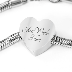 Autism Tree Heart Charm Stainless Steel Bracelet