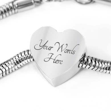 My Kids Have Paws Luxury Steel Bracelet with Heart Charm