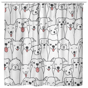 Doggie Friends Shower Curtain
