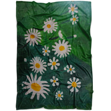 Load image into Gallery viewer, Daisies Fleece Blanket