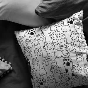 Kitty Paws Pillow