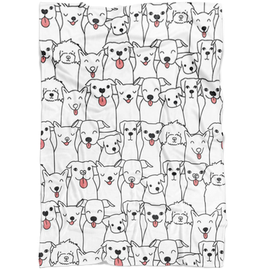 Doggie Friends Fleece Blanket
