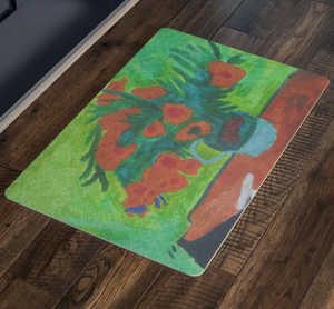 Van Gogh's Sunflowers Welcome Mat