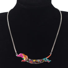 Load image into Gallery viewer, Dachshund Enamel Dog  Necklace