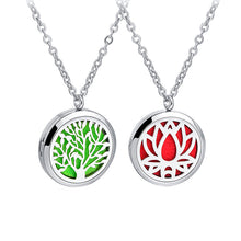 Load image into Gallery viewer, Aromatherapy Necklace Essential Oil Diffuser Pendant with Free Felt Pads and Chain