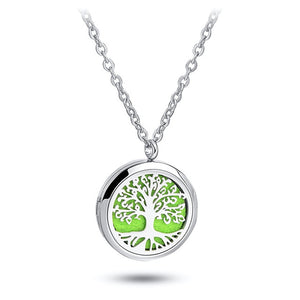 Aromatherapy Necklace Essential Oil Diffuser Pendant with Free Felt Pads and Chain