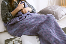 Load image into Gallery viewer, Soft Knitted Mermaid Handmade Tail Crochet Blanket