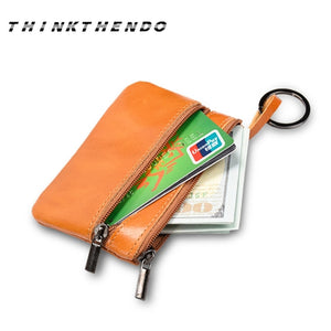 Fashion Leather Coin Purse and Key Ring