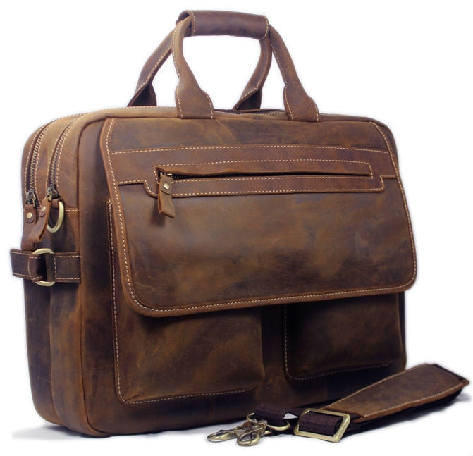 Vintage Men's Leather Business Bag
