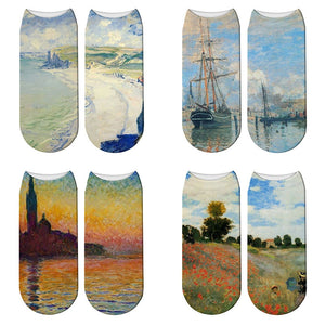 Classic Oil Painting Socks - Claude Monet