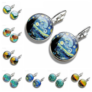 Van Gogh Painting Earrings