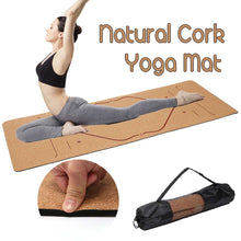 Load image into Gallery viewer, 5MM Natural Cork  Non-slip Yoga Mat
