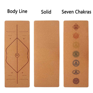 5MM Natural Cork  Non-slip Yoga Mat