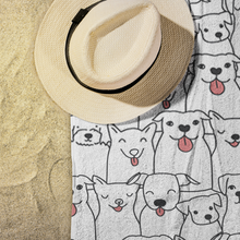 Load image into Gallery viewer, Doggie Friends Beach Towel