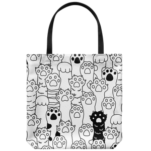 Kitty Paws Tote Bag