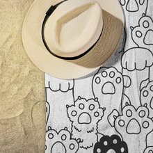 Load image into Gallery viewer, Kitty Paws Beach Towel