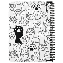 Load image into Gallery viewer, Kitty Paws Spiral Notebook