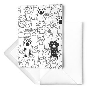 Kitty Paws Greeting Card Set (Folded)