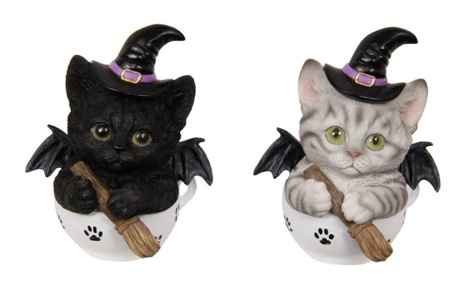 Witchy Cat in a Tea Pot