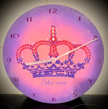 Hand painted 30cm clock