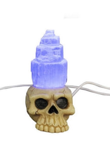Skull Selenite USB Light