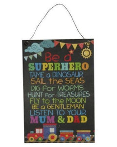 Super Hero Plaque