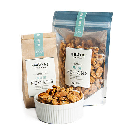 Molly & Me Praline Pecans in Bulk - Charleston SC