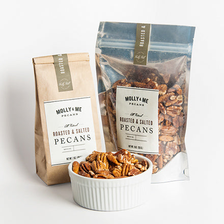 Roasted & Salted Pecans - 9oz. & 7oz. bags