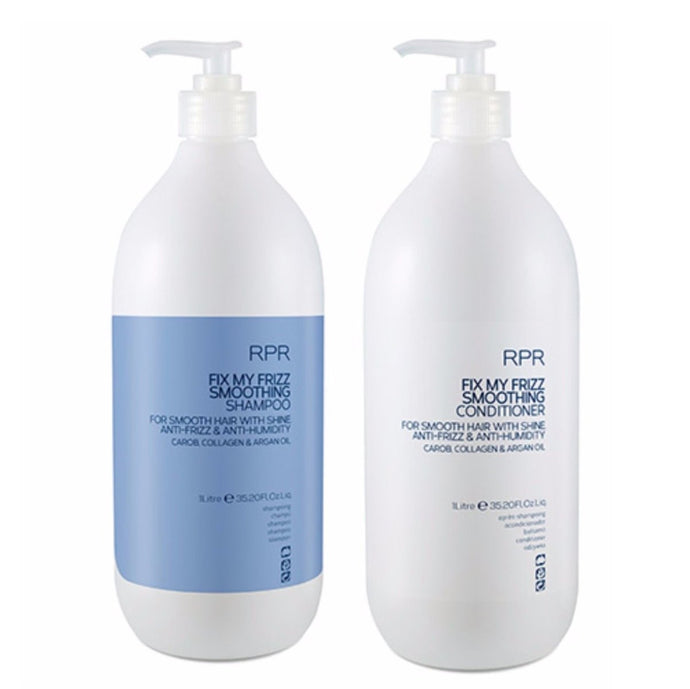 RPR Fix My Frizz Smoothing Shampoo & Conditioner 1 Litres with Pumps