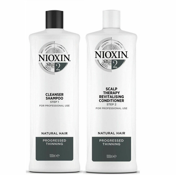 Nioxin System 2 for noticeably thinning, fine, natural hair