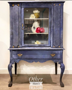 Stunning Oxford Navy China Cabinet