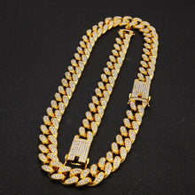 Load image into Gallery viewer, PROMO 13MM Iced out Chain Necklace and Bracelet Bundle