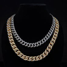 Load image into Gallery viewer, cuban link chain, gold cuban link chain, silver cuban link chain, mens jewelry, diamond cuban link chain
