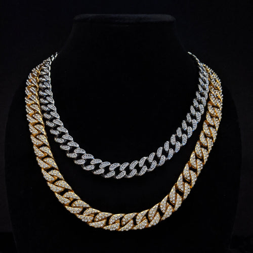 cuban link chain, gold cuban link chain, silver cuban link chain, mens jewelry, diamond cuban link chain