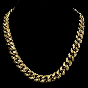 13MM Plain Cuban Link Chain