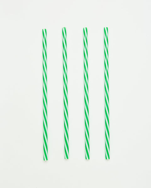 Reusable Plastic Straw Set