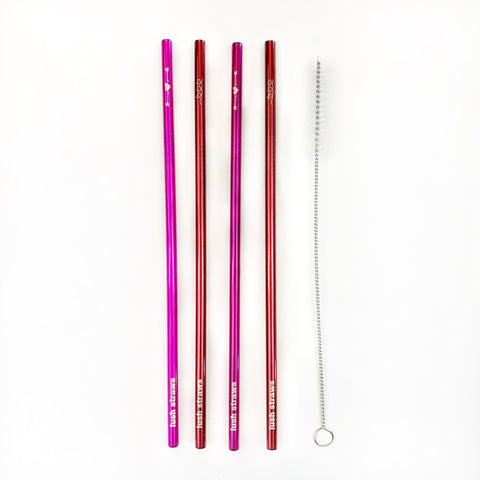 Valentine's Day Metal Straw Set